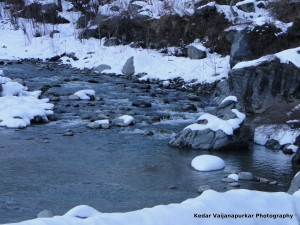 The frozen river of Manali, India